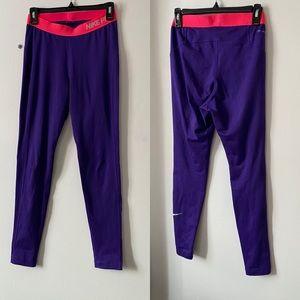 Nike Pro Purple Athletic Running Tights/Leggings